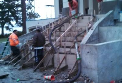 steps to building concrete pour seattle by glasco concrete